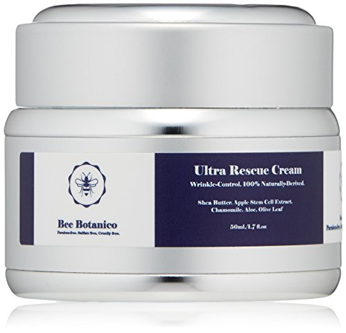 Bee Botanico Organic Ultra Rescue Cream with shea butter for wrinkle-control (paraben-free, sulfate-free) For Sale