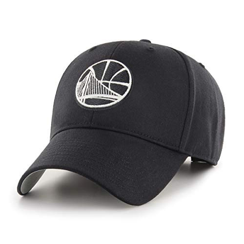 NBA Golden State Warriors NBA OTS All-Star Adjustable Hat, Black And White, One Size