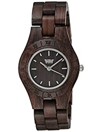 Wewood Women's Moon MOON-BROWN Brown Wood Analog Quartz Watch with Brown Dial