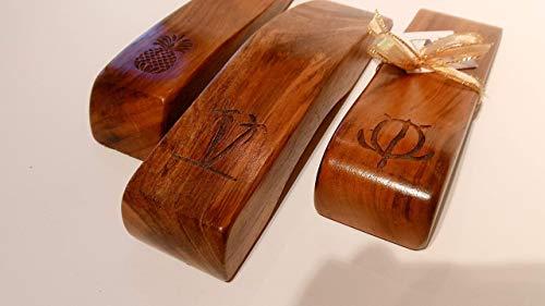 Handmade in Hawaii - Set of (3) Solid Koa Wood Hawaiian Doorstops