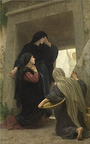 French 6' Length Box (Oil Painting 'William Adolphe Bouguereau,Holy Women By The Grave,1825-1905' 30 x 48 inch / 76 x 122 cm , on High Definition HD canvas prints is for Gifts And Hallway, Powder Room And Study Roo decor)
