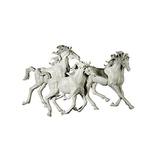 Design Toscano Los Tres Caballos del Castillo Alomar Wall Sculpture