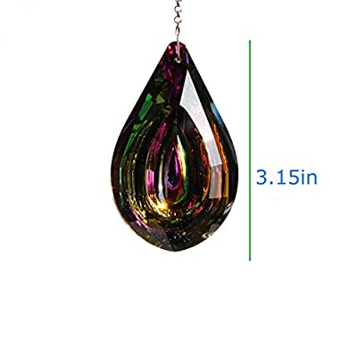 Together-life Crystal Suncatcher Prism Pendant Rainbow Maker Hanging Suncatchers with Chain Window Sun Catcher(Multicolored) : Garden & Outdoor