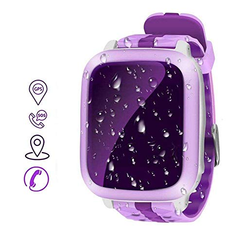 MrRong Children's Cell Phone Watch Waterproof POS Color Screen Touch Screen Card to Carry The Cell Phone Watch Back up 2G Network SIM Card,Pink