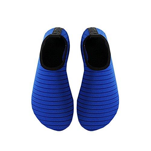 Zapatos De Agua Para Mujer Para Hombre Zapatos De Natación Deportiva Zapatos Descalzos De Secado Rápido Para Playa Surf Aqua Azul