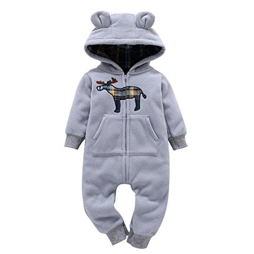 Memela(TM) NEW AUTUMN WINTER Unisex Baby Layette Gift Set Rompers Onesie (0-6 mos, Gray) (2 Onesie Set)
