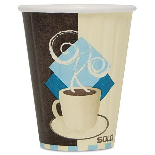 SOLO Cup Company Duo Shield Insulated Paper Hot Cups, Paper, 8 oz., Tuscan Design, 1000/Carton