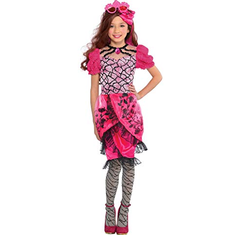 Ever After High Briar Beauty Child Costume Medium 8-10 Dress Tights WIG