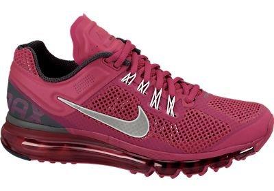 Women's NIke Air Max 2013 Running Shoe Fuchsia Size 9.5