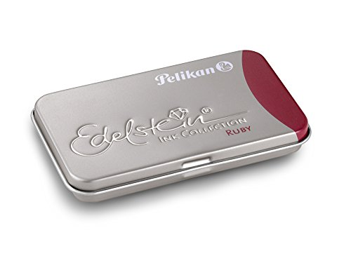 Pelikan Edelstein Ink Cartridges for Fountain Pens, Ruby, 1.4ml, Pack of 6 (339663)