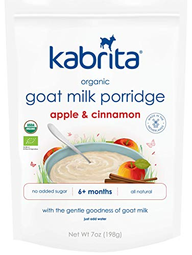 - Kabrita Organic Goat Milk Porridge, Apple Cinnamon, 7 oz