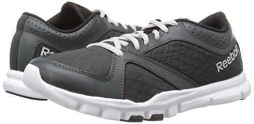 Reebok Women's Yourflex Trainette 7.0 LMT Training Shoe, Gravel/Black/White/Steel, 8.5 M US by Reebok (Image #6)