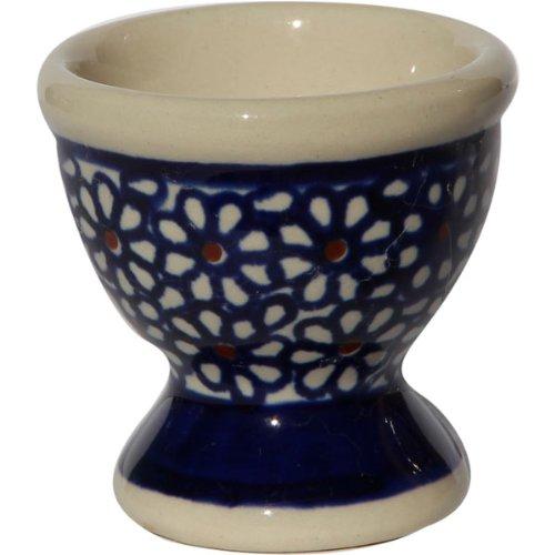 Polish Pottery Egg Cup From Zaklady Ceramiczne Boleslawiec #203-120 Classic Pattern