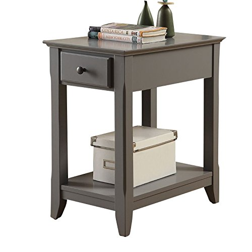 Acme Furniture Acme 82838 Bertie Side Table, Gray, One Size
