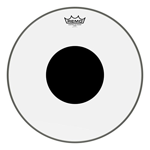 Remo Controlled Sound Clear Drum Head with Black Dot - 16 Inch (Black Multi Tom)