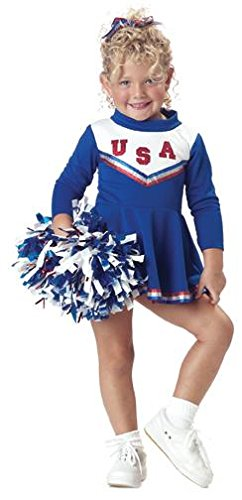 Toddler Patriotic Cheerleader