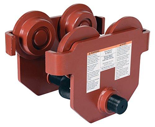 Vestil E-MT-6 Steel Low Profile Eye Manual Push Trolley, 6000 lbs Capacity, 3''- 8-5/8'' I-Beam Flange, 3-3/8'' Headroom by Vestil (Image #2)