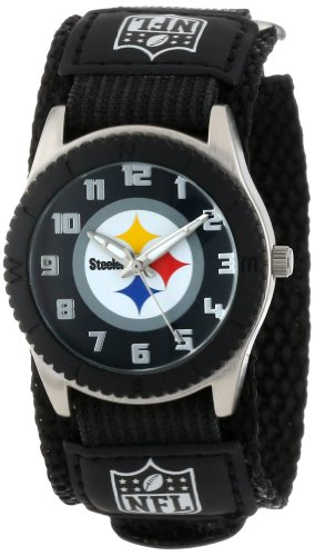 "Game Time Unisex NFL-ROB-PIT ""Rookie Black"" Watch - Pittsburgh Steelers"