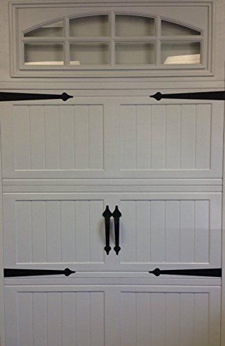 Kit Deluxe Garage - (GARRAG) Garage Door Deluxe Decorative Hardware Kit - Hinges & Handles - Includes Screws