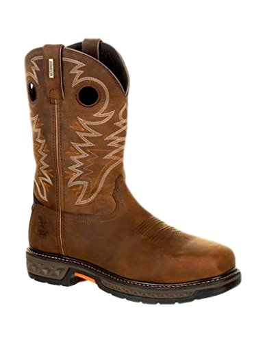 Georgia Boot Work Mens Carbo-Tec Square Waterproof 11 W Brown - Square Georgia