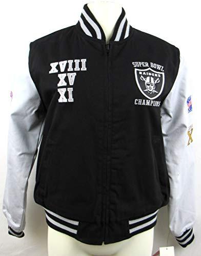 G-III Sports Womens Oakland Raiders 3X Super Bowl Champions Reversible Cotton Jacket ARAD 200 SS