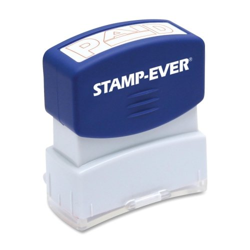 Stamp-Ever Pre-Inked Message Stamp, Paid, Stamp Impression Size: 9/16 x 1-11/16 Inches, Red (5959), Outdoor Stuffs