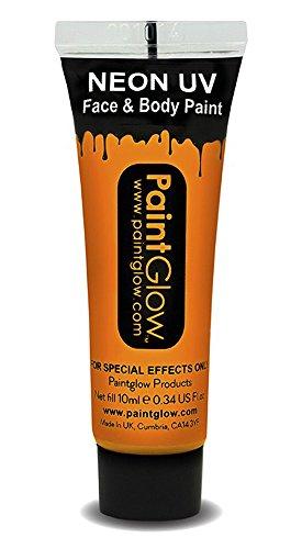 UV Neon Face & Body Paint Make up Hellblau Neon Orange