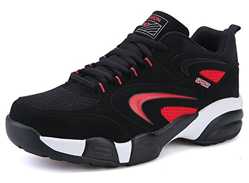 Santimon Running Shoes Men Athletic Cross-Trainer Trail Runners Outdoor Cushion Sports Shoes(Two Lining For Choose) Red(upper:mesh) Skc32cja