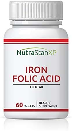 NutrastanXP Iron Folic Acid Supplement - 60 Tablets