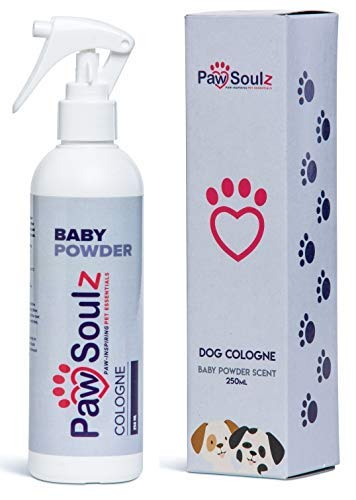 Paw Soulz Premium Dog Cologne Baby Powder - Long Lasting Dog Deodoriser Spray - Contains Aloe - Replenish Skin & Coat - Hypoallergenic - Natural Conditioner Perfume for Dogs & Puppies 1