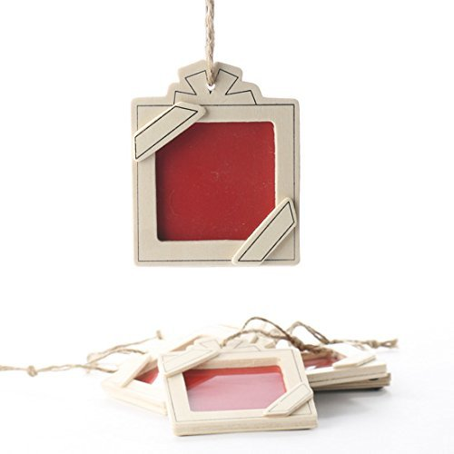 12 Mini Photo Picture Frame Christmas Ornaments - Ready to Decorate Holiday Craft Project