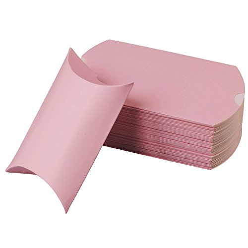 vLoveLife 5'' X 3.5'' Baby Pink Cute Pillow Kraft Paper Gift Boxes Wedding Party Favor Favour Gift Candy Box 13cm x 9cm - Pack Of -