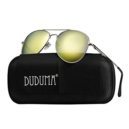 Duduma Premium Full Mirrored Aviator Sunglasses w/Flash Mirror Lens Uv400