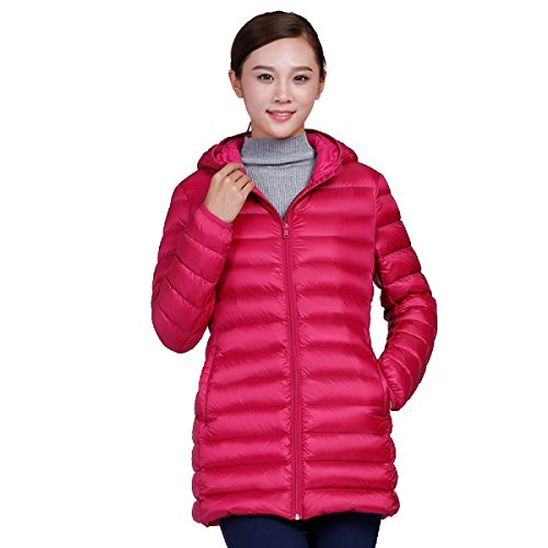 Section cultivation Thin Long Student nihiug Female Outwear Down Cute Eiderdown Jacket Self Korea Down A Hooded Coat Section nY6YPrZq