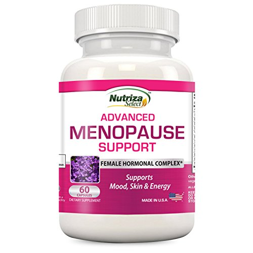 Advanced Menopause Support - Natural Menopausal Relief for Hot Flashes, Night Sweats, Mood Swings & Vaginal Dryness - Black Cohosh, Soy Isoflavones & Herbal Extract Formula - Does Not Include Hormones Herbal Hormone Replacement Therapy