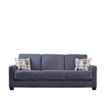 Elegant Handy Living Tahoe Convert a Couch in Gray Microfiber with Black Geometric Circle Pillows Simple Elegant - Inspirational handy living convert-a-couch sleeper sofa In 2018