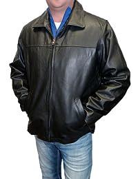 Wilda Men's Zip Front Leather Jacket