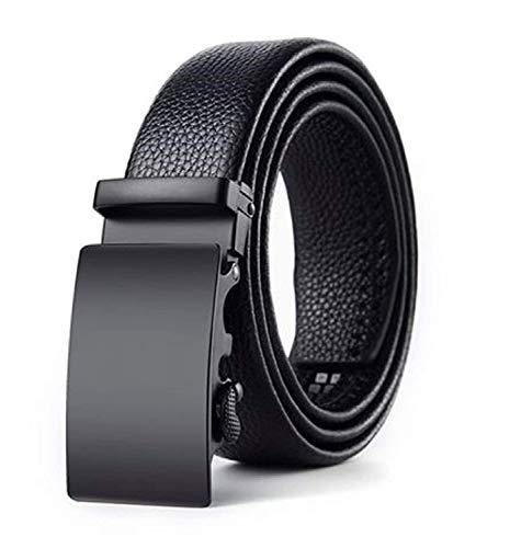 Zacharias AB-001 Men's Faux Leather Automatic Buckle Belt (Black, Free Size)