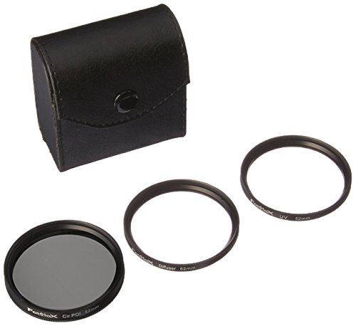 Fotodiox Filter Kit- UV, Circular Polarizer, Soft Diffuser, 52mm for Canon, Nikon, Sony, Olympus, Pentax & Panasonic Lenses