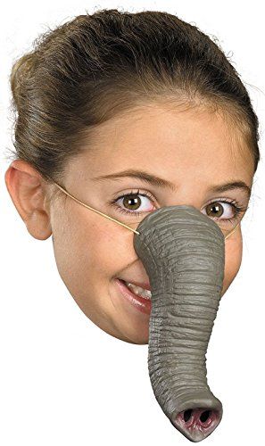 Elephant Trunk Costume (Child Rubber Grey Gray Elephant Trunk Nose Zoo Animal Costume Accessory Toy Mask)