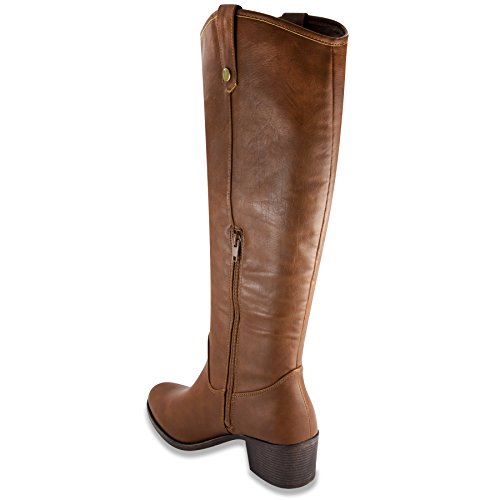 Rampage Boot Cognac Italie Knee High Riding Women's qp7pwPB
