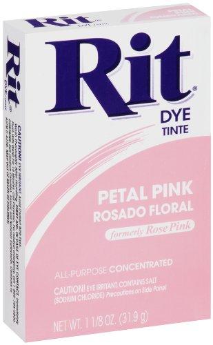 Rit Purpose Powder Dye, Petal Pink, 1.125 - Fabric Pink Dye