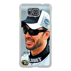 Jimmie Johnson White Samsung Galaxy Alpha Screen Phone Case Fashion and Attractive Design