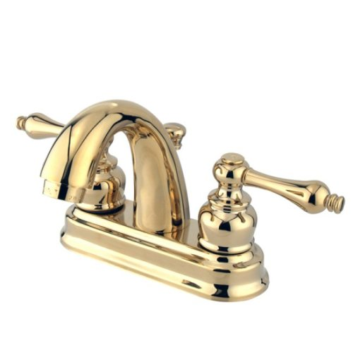 Kingston Brass KB5612AL Restoration 4-Inch Centerset Lavatory Faucet, Polished (Restoration Lavatory Centerset Faucet)