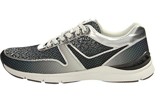 Señoras de la zapatilla de deporte del deporte Gabor 64.303.49 kombi gris gris