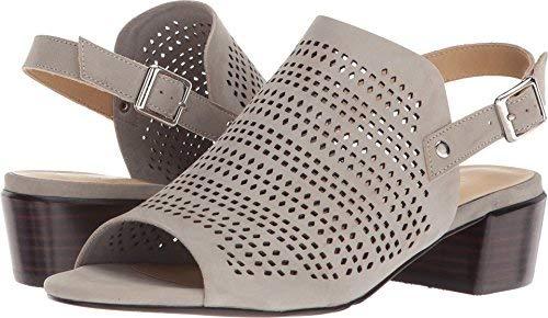 VANELi Womens Cadena Leather Peep Toe Casual Slingback, Marmo Nabuk, Size 8.0 ()