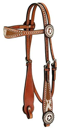 Royal King Texas Star Browband Headstall Med Oil