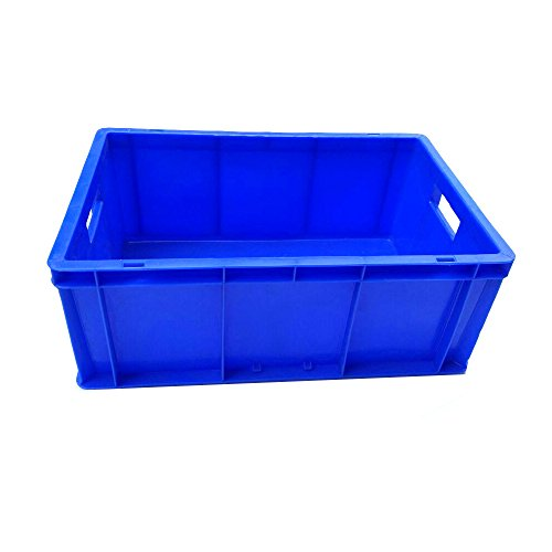 Sampada Synthetics Plastic Bazooka Handling Storage Container Crate (Blue, 500x325x200mm) Price & Reviews
