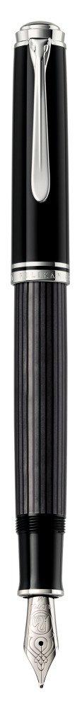 Pelikan pluma M805 F Prima negro//gris