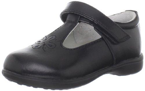 Jumping Jacks Terrific Flat (Infant/toddler/Little Kid/Big Kid)Black Leather,2.5 M US Little Kid